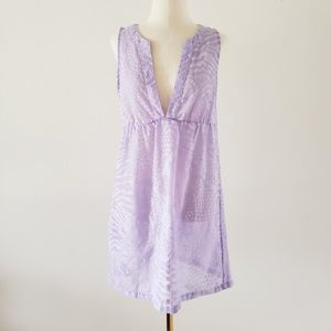 CK Small Purple Animal Burnout Swimsuit Cover Up